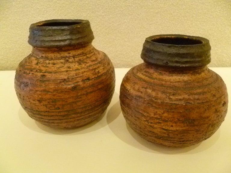 1960s Auli Heinonen Chamotte Vases for Arabia For Sale 1