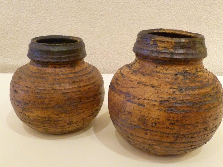 1960s Auli Heinonen Chamotte Vases for Arabia For Sale 3