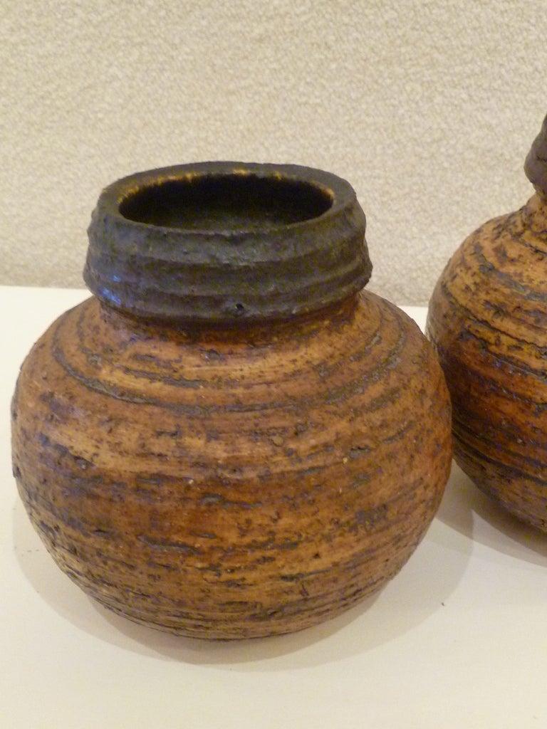 1960s Auli Heinonen Chamotte Vases for Arabia For Sale 4