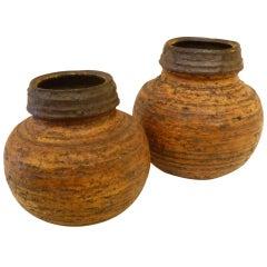 1960s Auli Heinonen Chamotte Vases for Arabia