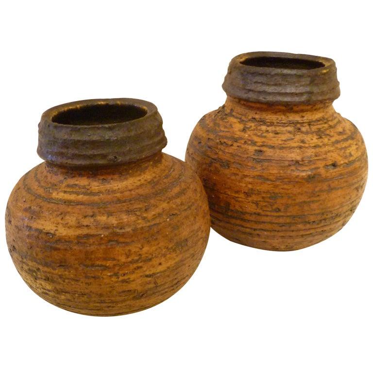 1960s Auli Heinonen Chamotte Vases for Arabia For Sale