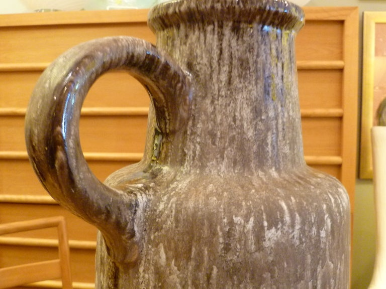 Great German Frothy Hot Lava Floor Vase Ewer For Sale 2