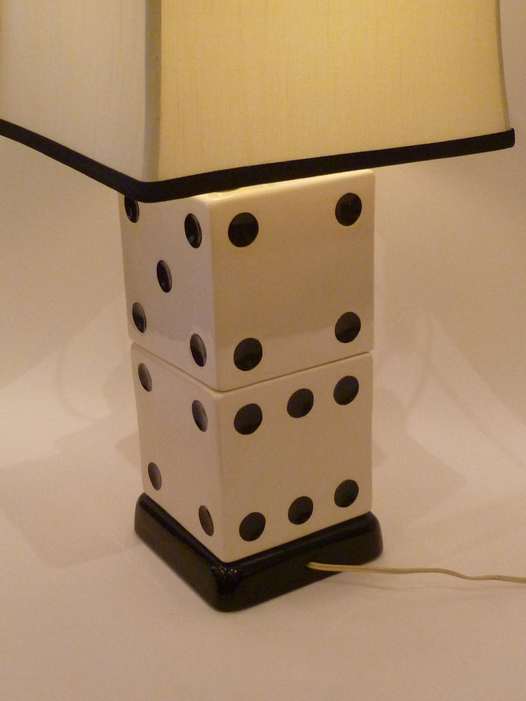 Whimsical Stacked Dice Table Lamp At 1stdibs