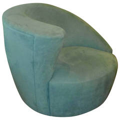 Swiveling Nautilus Chair by Vladimir Kagan for Directional