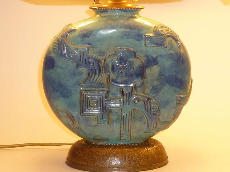 20th Century Vally Wieselthier Pottery Table Lamps Wiener Werkstatte For Sale
