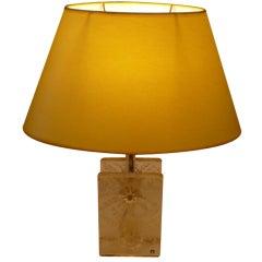 Swedish Modernist Ice Glass Table Lamp by Pukeberg