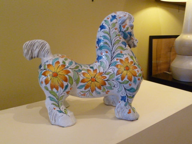 Mid-Century Modern Magnificent Large and Fat Italian Horse Figure For Sale