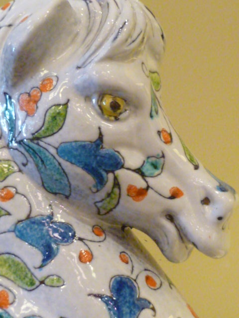 Magnificent Large and Fat Italian Horse Figure In Excellent Condition For Sale In Miami, FL