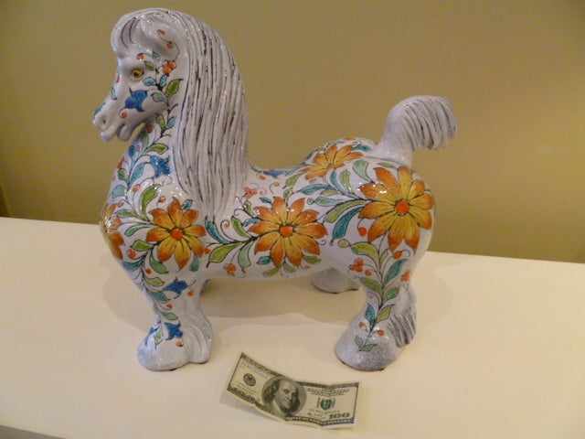 Magnificent Large and Fat Italian Horse Figure For Sale 2