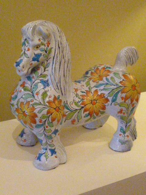 Magnificent Large and Fat Italian Horse Figure For Sale 4