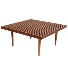 Rare Fine Danish Teak Slat Top Cocktail Coffee Table