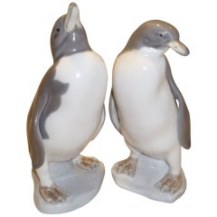 Lladro Pinguinos Porcelain Penguin Figurine Group