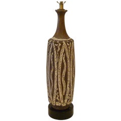 Gambone Style Italian Pottery Table Lamp