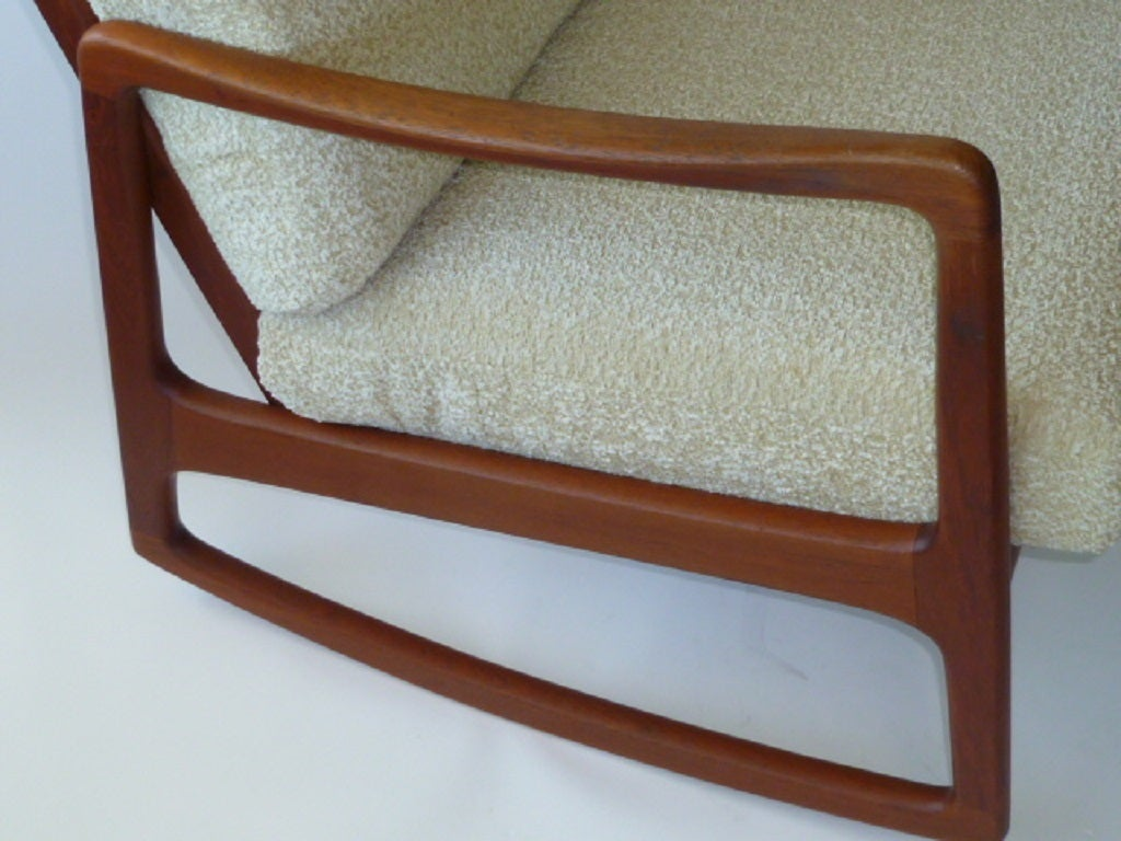 Classic Ole Wanscher Teak Rocking Chair France and Daverkosen at ...