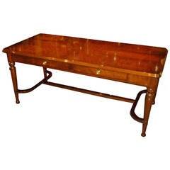 Fine Crotch Mahogany Regency Style Desk