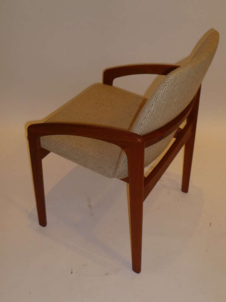 Kai kristiansen teak armed desk chair for korup stolefabrik at 1stdibs - Kai kristiansen chair ...