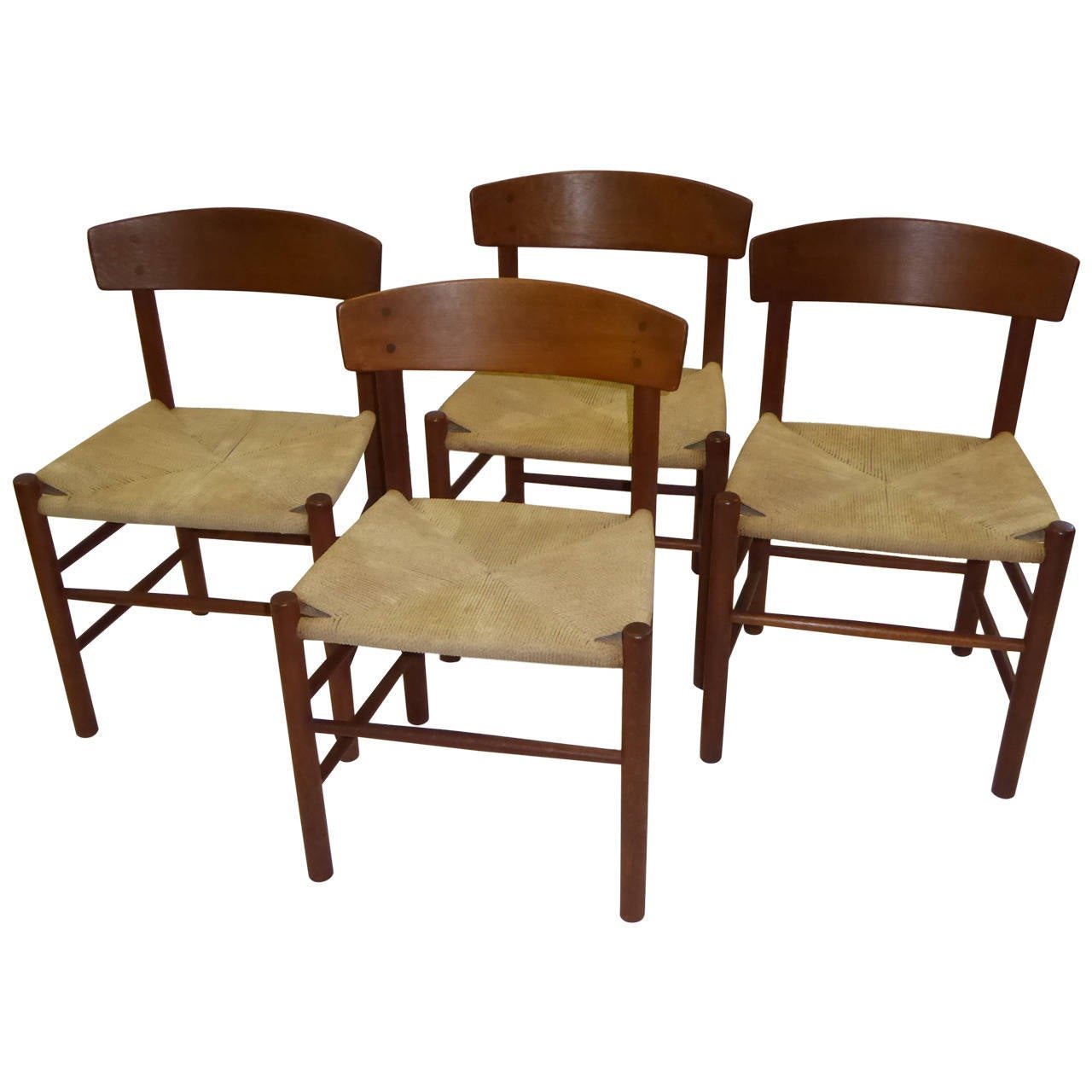 Perfect 1940s Børge Morgensen J39 Chairs From FDB Mobler Denmark 1