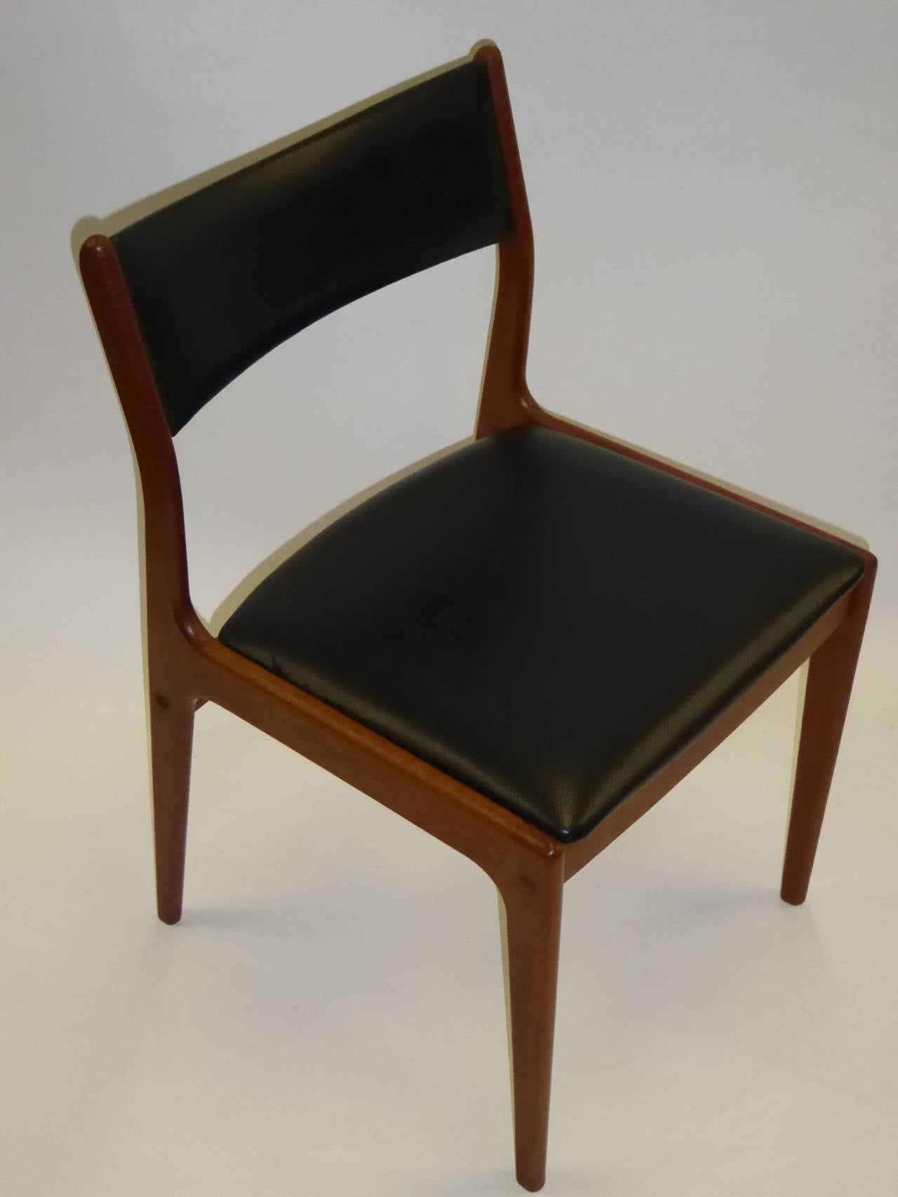 Mid-20th Century Johannes Andersen for Uldum Mobelfabrik Danish Teak Dining Chairs For Sale