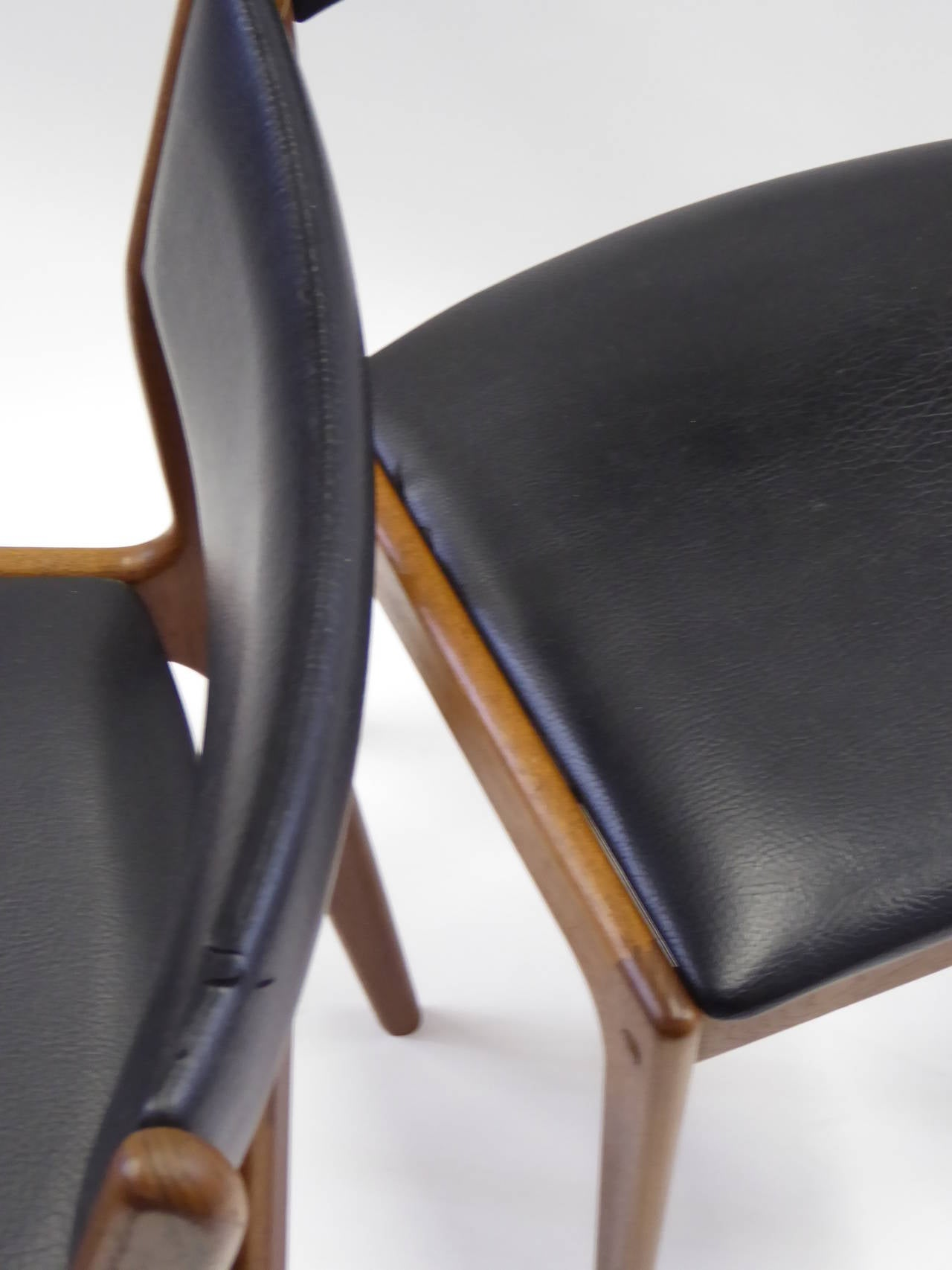 Johannes Andersen for Uldum Mobelfabrik Danish Teak Dining Chairs For Sale 2