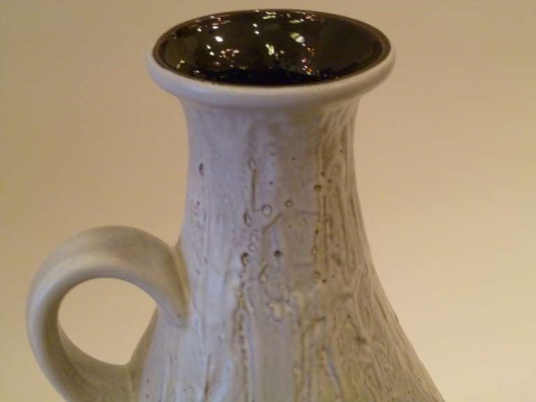 Large 1950s Clemens & Huhn Textured German Pottery Krug Floor Vase For Sale 3