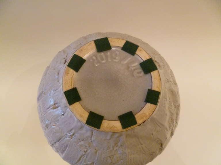 Glazed Large 1950s Clemens & Huhn Textured German Pottery Krug Floor Vase For Sale