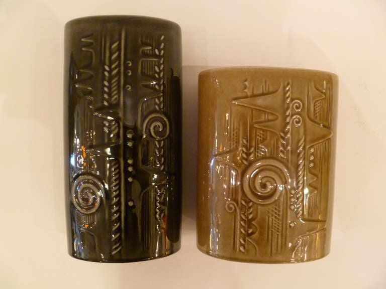 Swedish Olle Alberius 1960s Organic Lummer Vases for Rorstrand Sweden For Sale