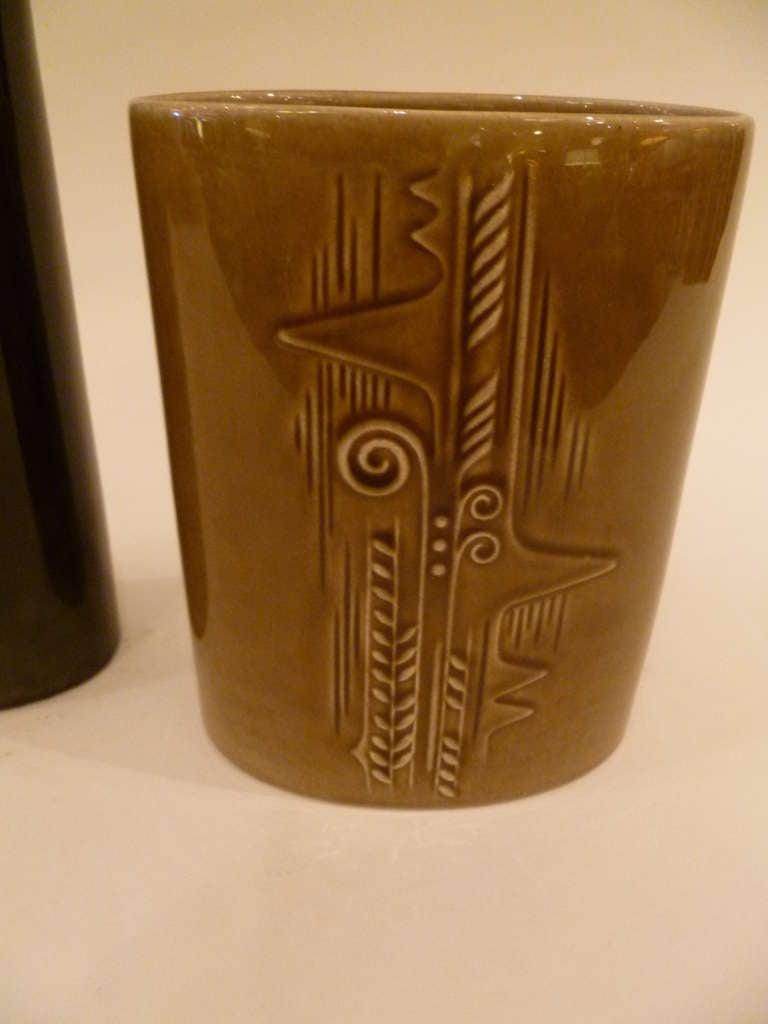 Mid-20th Century Olle Alberius 1960s Organic Lummer Vases for Rorstrand Sweden For Sale