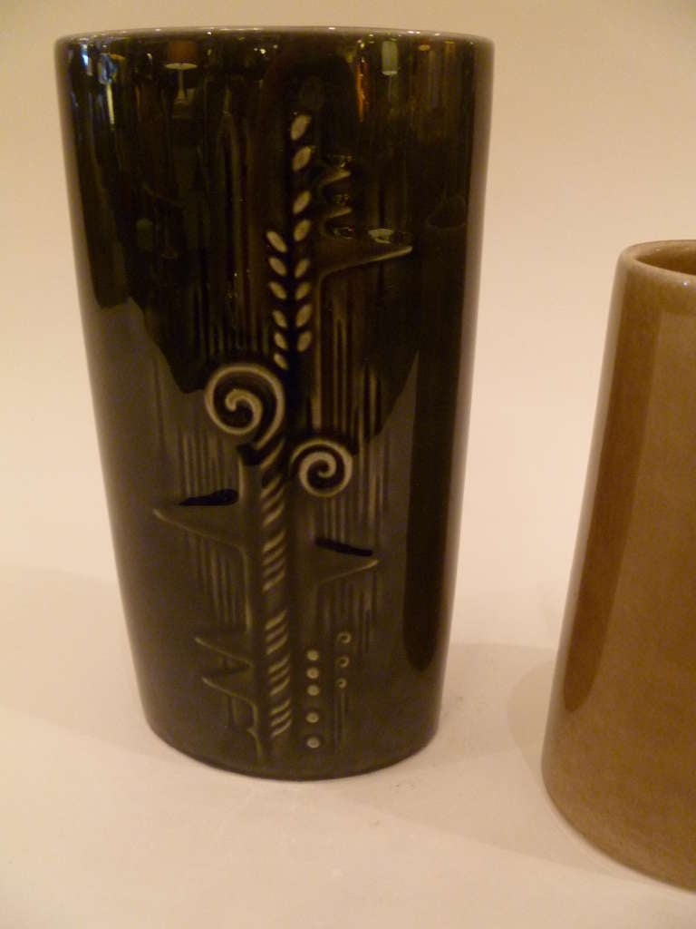 Olle Alberius 1960s Organic Lummer Vases for Rorstrand Sweden For Sale 3