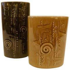 Olle Alberius 1960s Organic Lummer Vases for Rorstrand Sweden