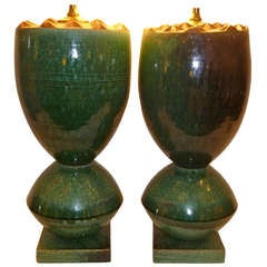 Fat Organic Ransmeier Pottery Table Lamps