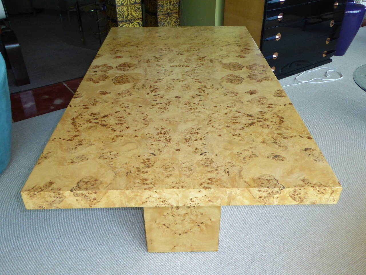 1970s Burl Olivewood Dining Table At 1stdibs
