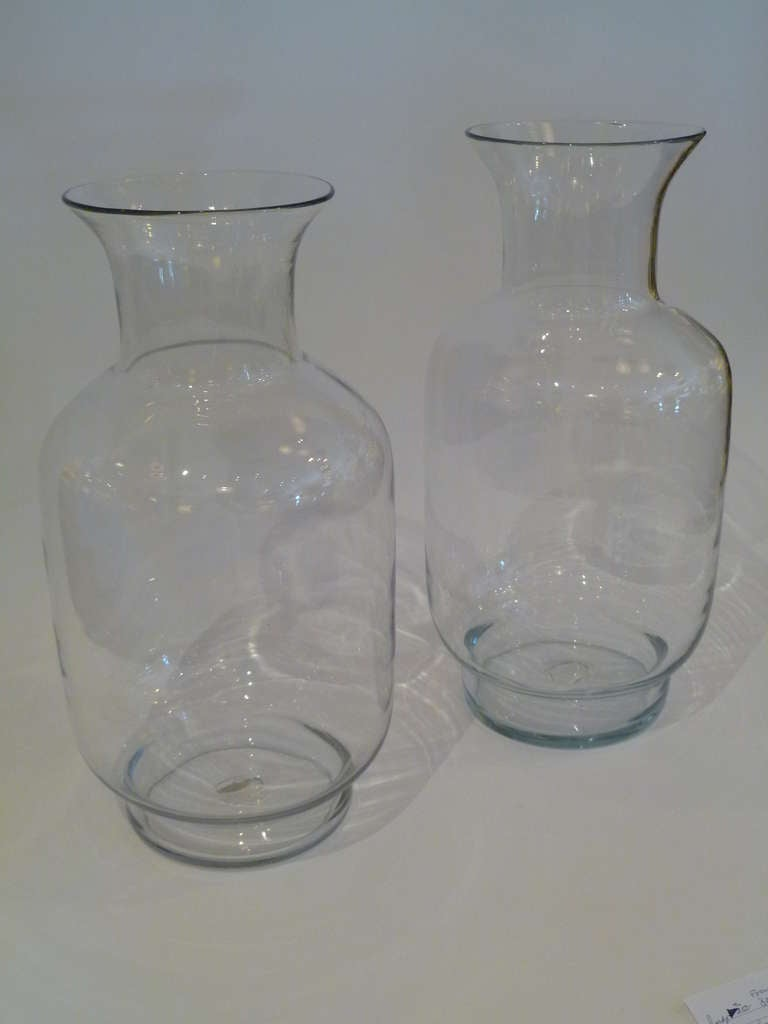Large Blenko Classic Urn Form Crystal Vases, 1970s In Excellent Condition For Sale In Miami, FL
