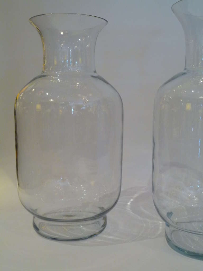 Large Blenko Classic Urn Form Crystal Vases, 1970s For Sale 2