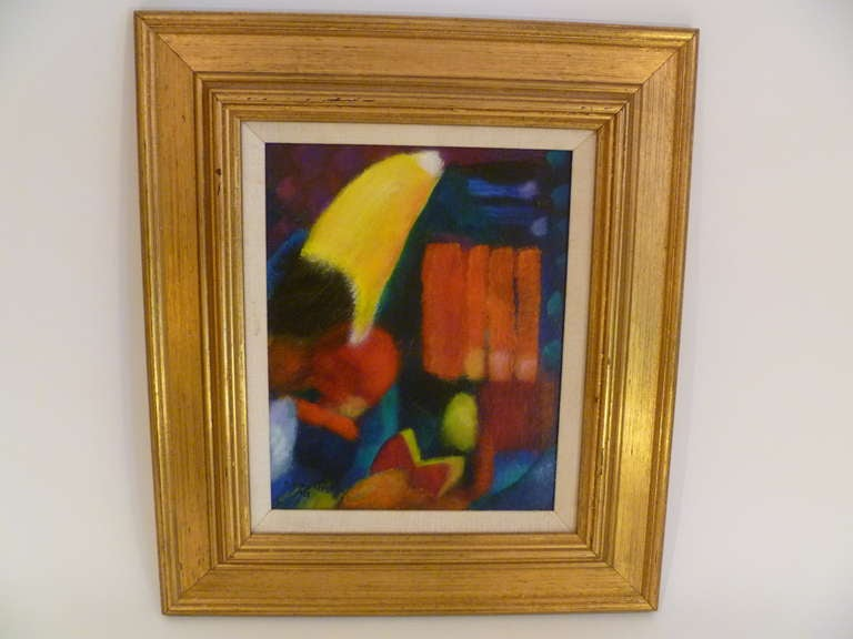 Modern Vibrant Robert Avon Lees Painting California Artist For Sale