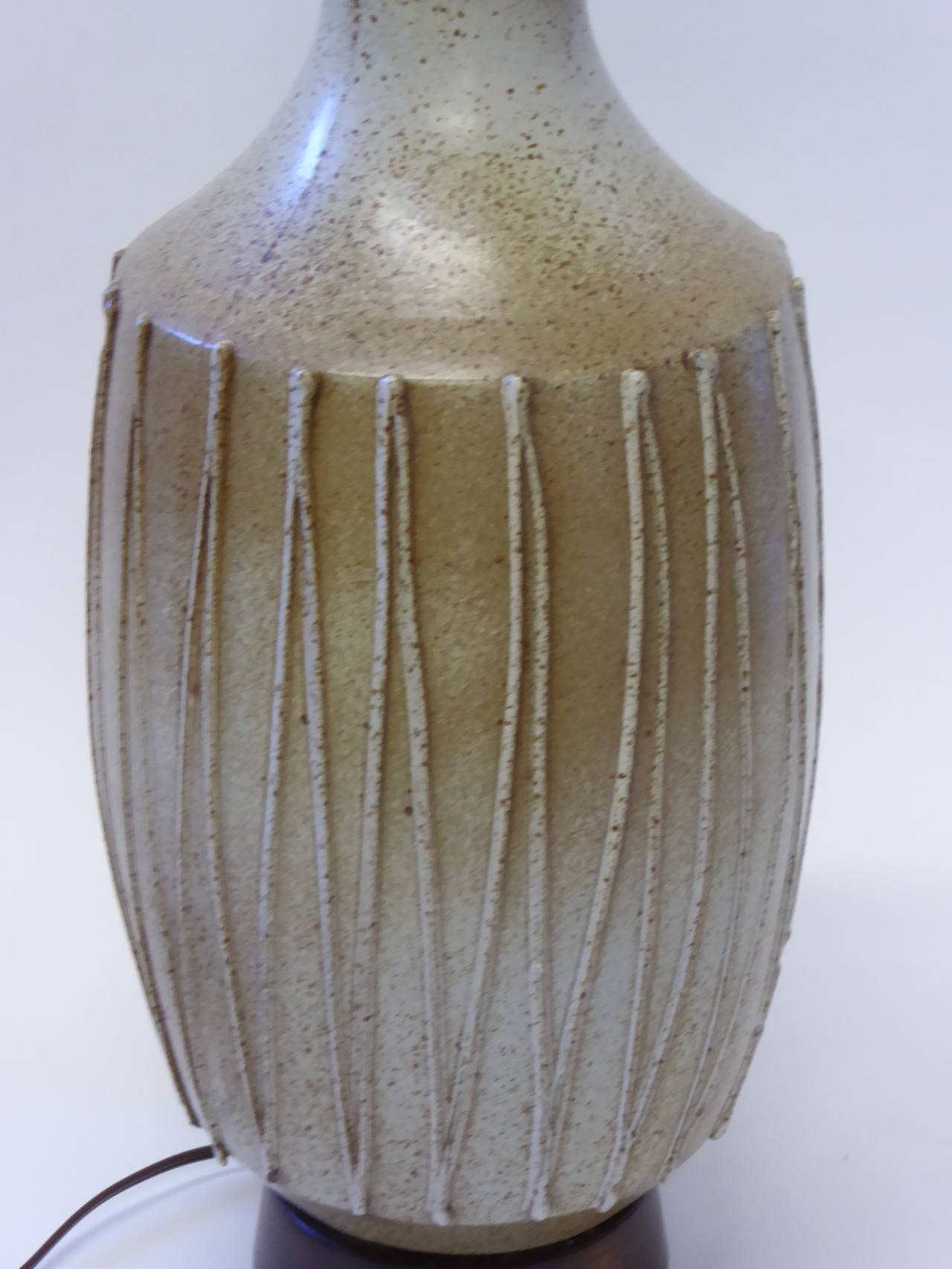 1960s David Cressey Pottery Table Lamp For Sale 2