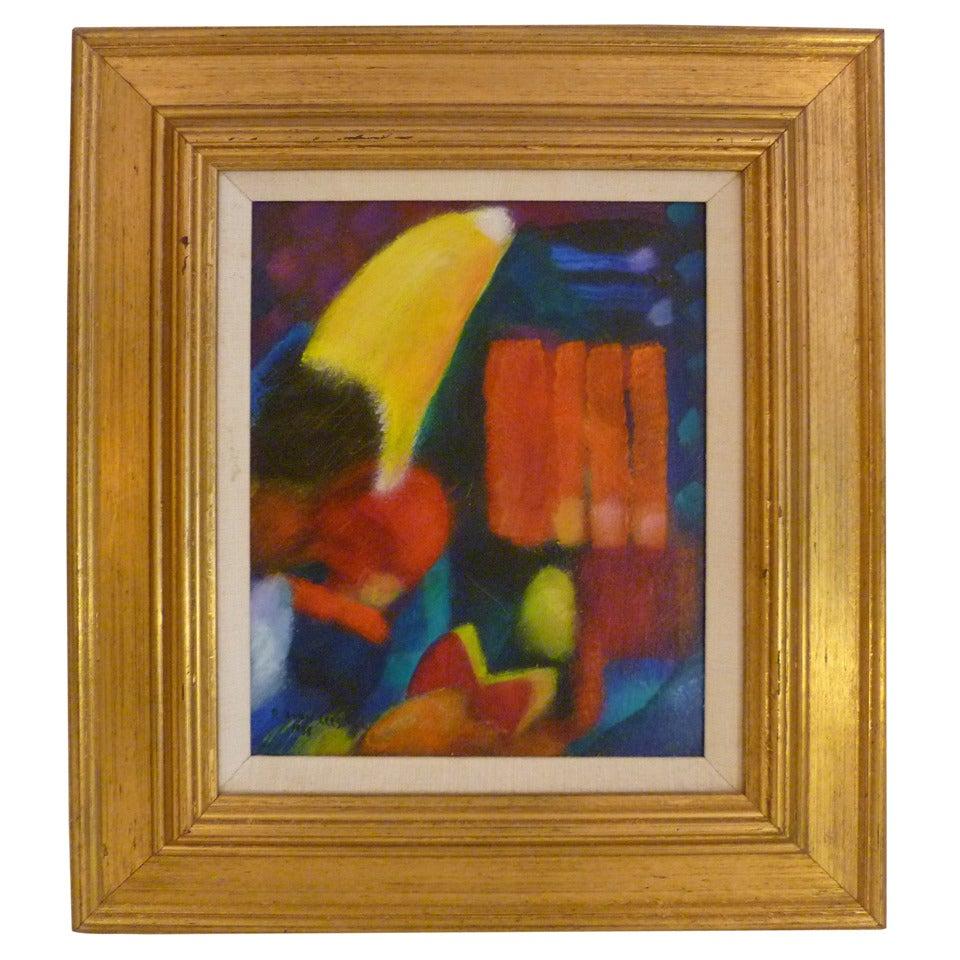 Vibrant Robert Avon Lees Painting California Artist