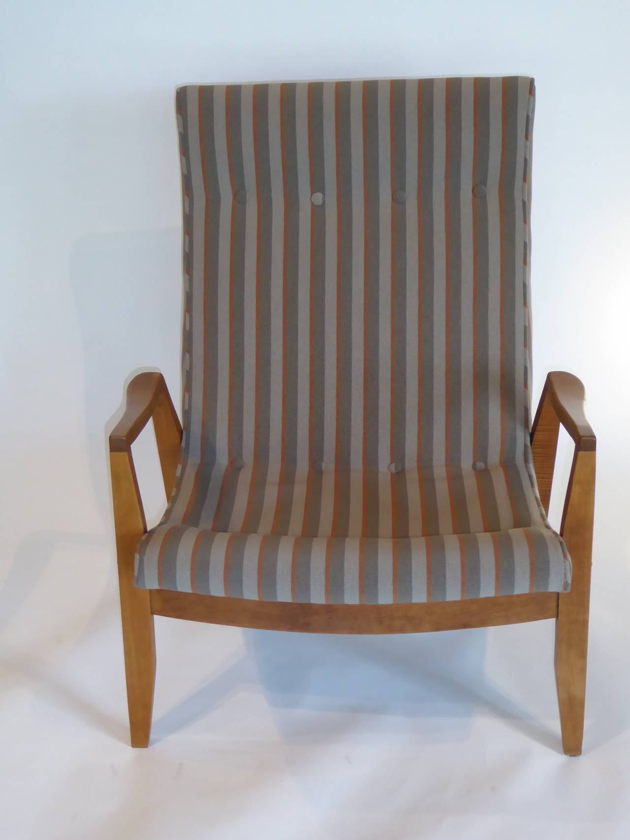 1950s Milo Baughman Scoop Lounge Chair and Ottoman For Sale 2