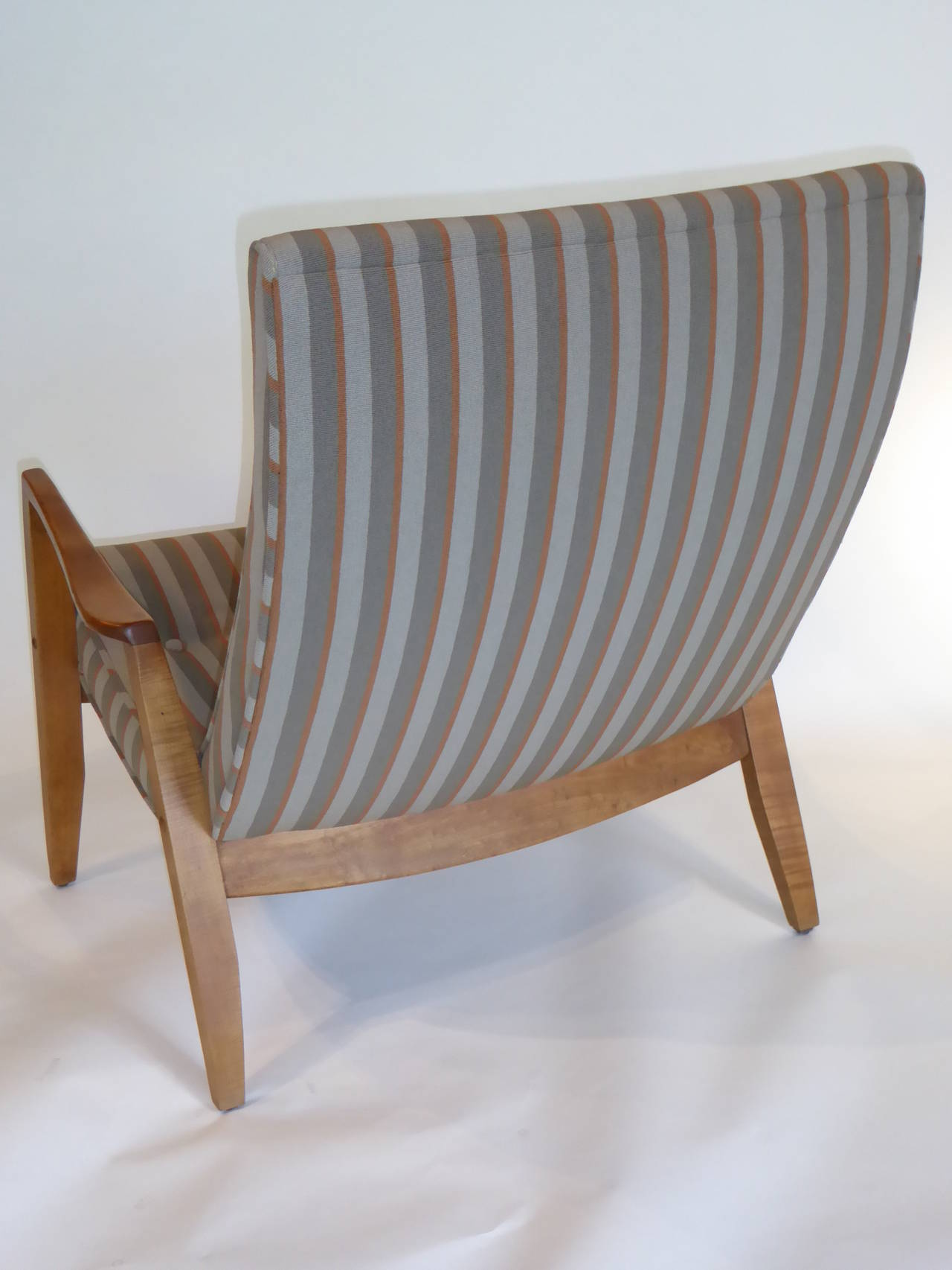 1950s Milo Baughman Scoop Lounge Chair and Ottoman For Sale 3