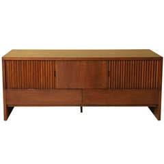 Brilliant 1950s Harold Schwartz Dark Oak Sideboard for Romweber