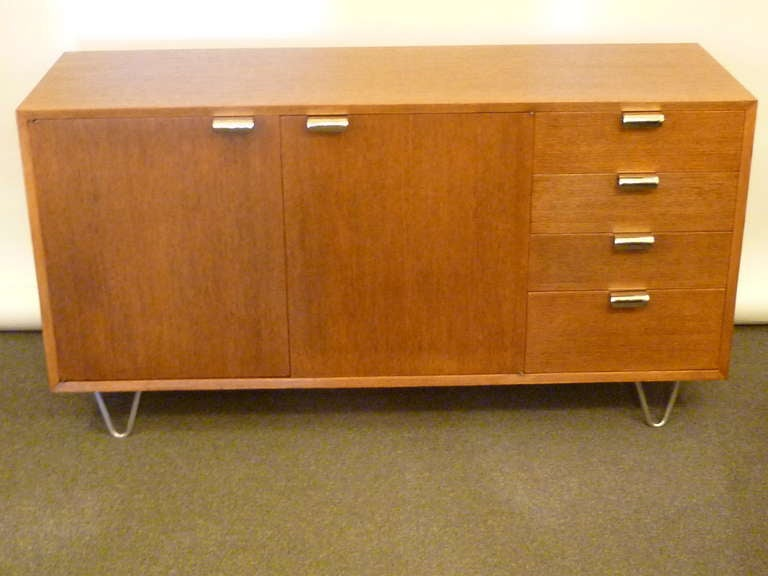 American George Nelson Low Profile Credenza Sideboard for Herman Miller For Sale