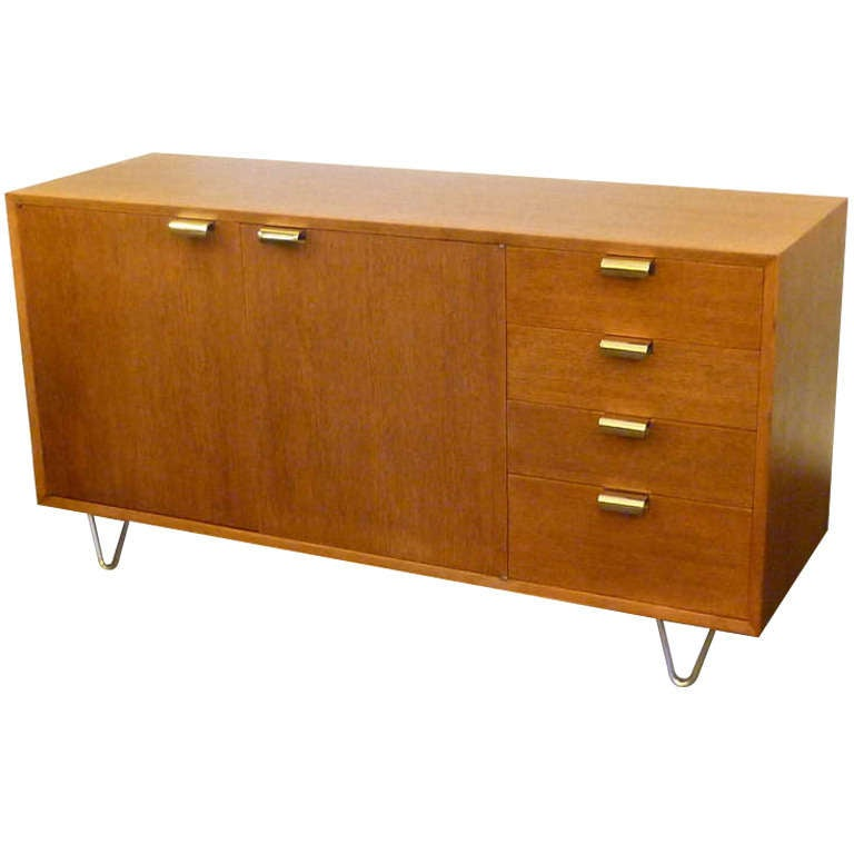 George Nelson Low Profile Credenza Sideboard for Herman Miller For Sale