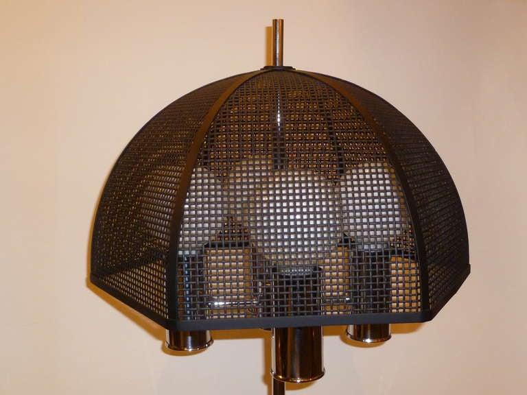 chrome bouillotte style table lamp metal mesh umbrella shade image 10. Black Bedroom Furniture Sets. Home Design Ideas