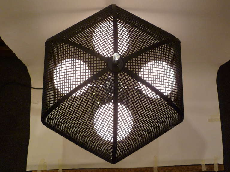 chrome bouillotte style table lamp metal mesh umbrella shade image 7. Black Bedroom Furniture Sets. Home Design Ideas