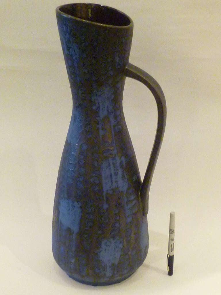 1960s Tall Carstens Ankara Lava Glaze Floor Vase Germany