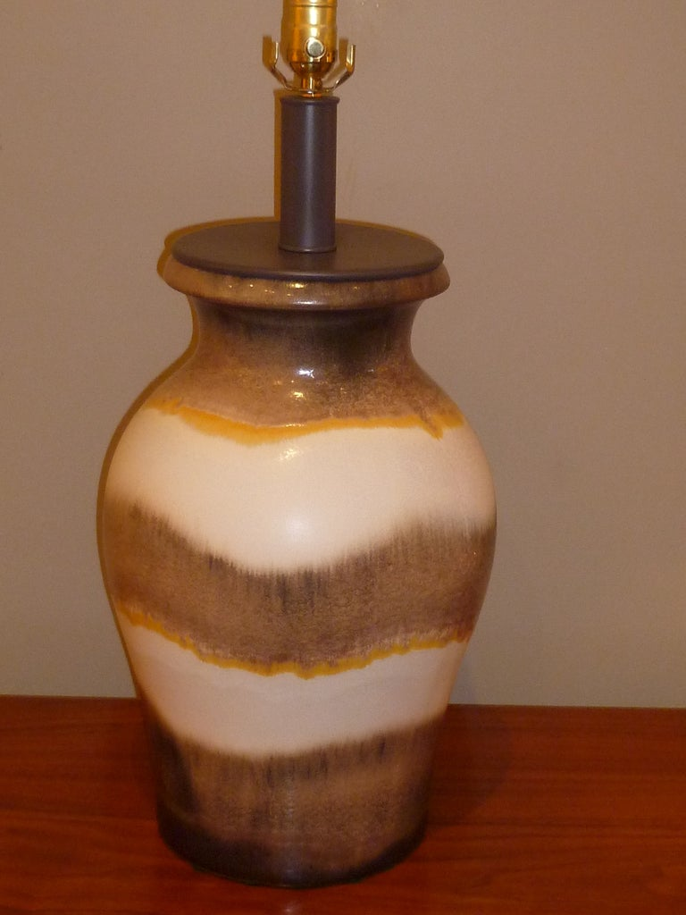 Netmasculine Lamps : Large Raymor German Fat Lava Drip Glaze Table Lamp For Sale at 1stdibs