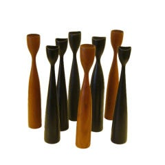 Great Sculptural Danish Candlestick Group