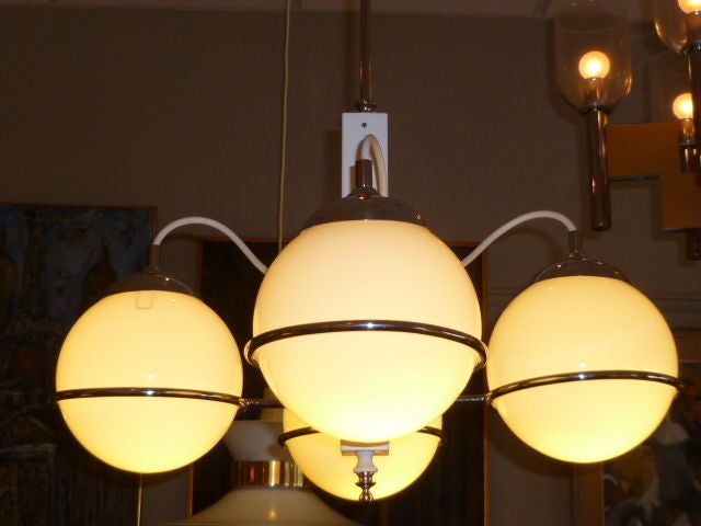 Smart Gino Sarfatti Four Globe Chandelier 2