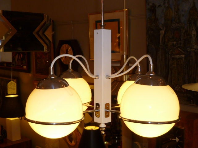 Smart Gino Sarfatti Four Globe Chandelier 3