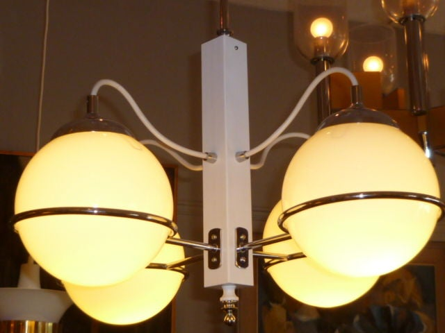 Smart Gino Sarfatti Four Globe Chandelier 4