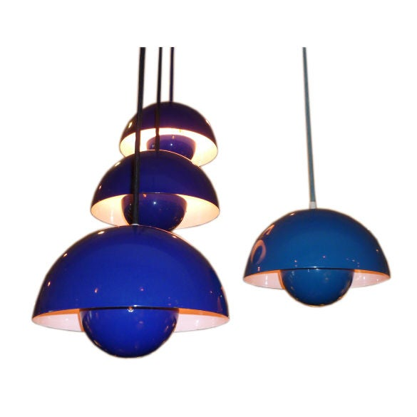 Iconic Verner Panton Flowerpot Pendant Lamps For Sale